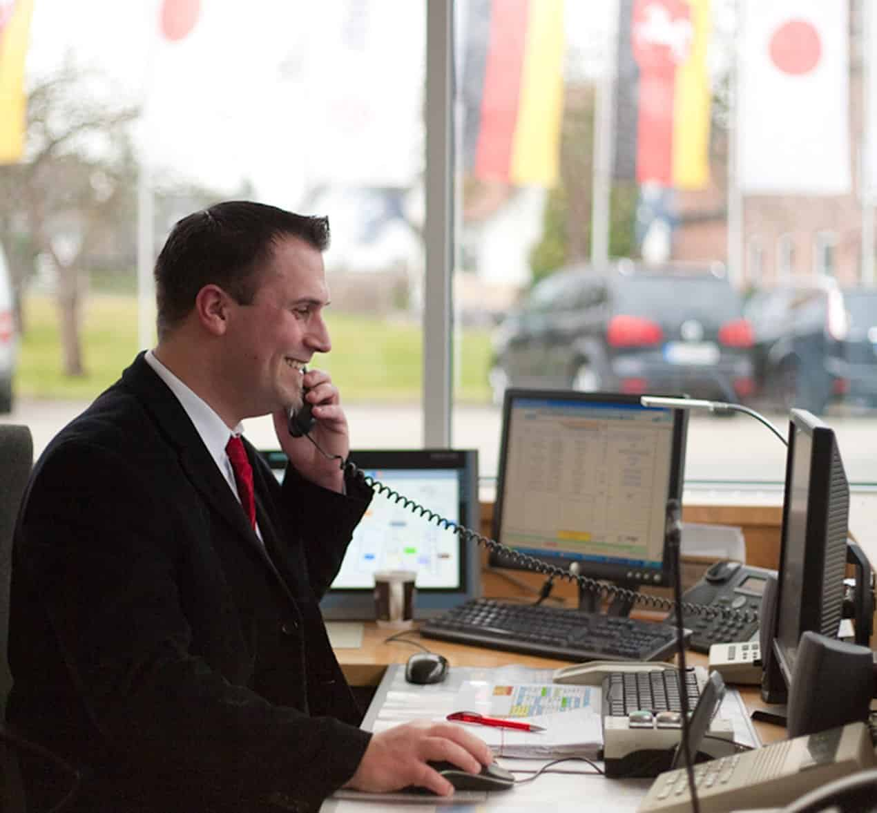Wir empfangen Ihre Kunden, freundlich und professionell.