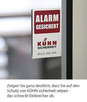 Kühn Sicherheit-Aufkleber hält unerwünschte Besucher fern